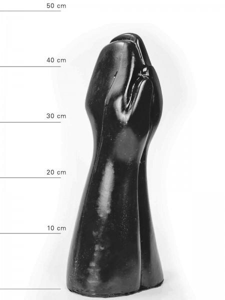 X-Man Doppelter Fisting Dildo 32x16,5cm Schwarz