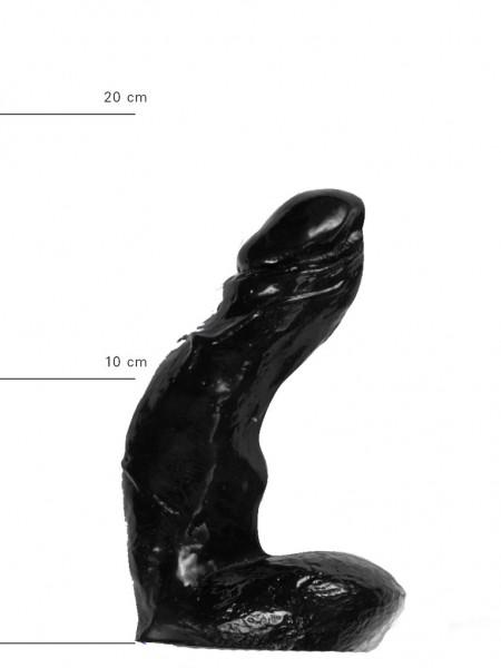 X-Man  Dildo 15x4cm Klassische Form Schwarz