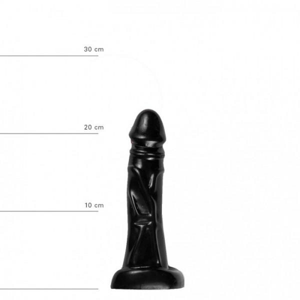 X-Man Dildo 22x4,5cm Klassische Form Schwarz