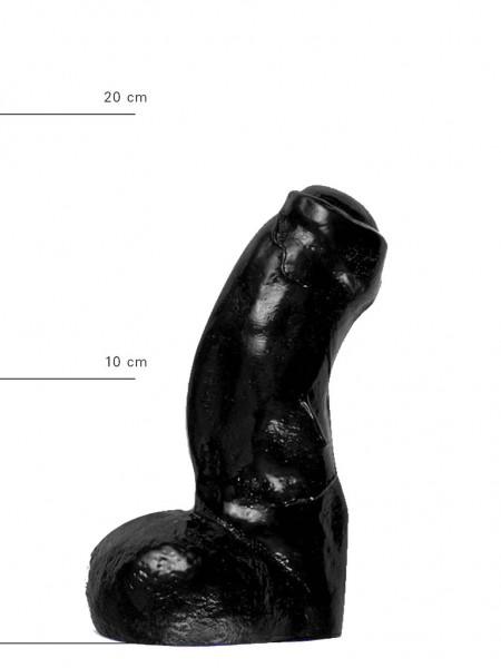 X-Man Dildo 17x5cm Klassische Form Schwarz