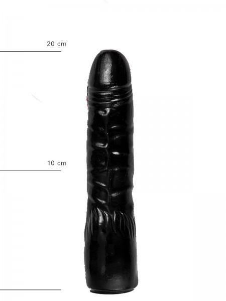 X-Man Dildo 20x4,5cm Klassische Form Schwarz