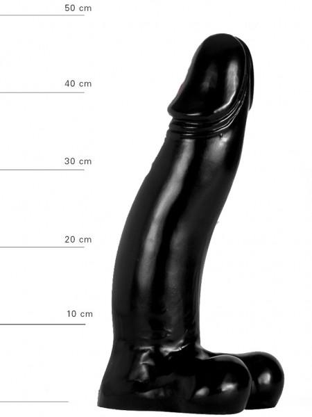 X-Man Dildo 45x9cm Klassische Form Schwarz