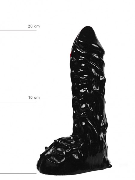 X-Man Dildo 23x5,5cm Klassische Form Schwarz