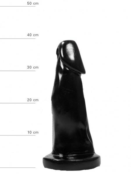 X-Man Dildo 39x8,5cm Klassische Form Schwarz