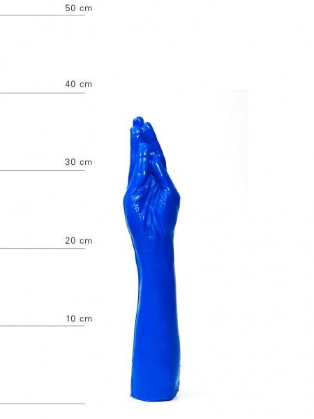 X-Man Fisting Dildo 37x7cm mit Saugfuss Blau
