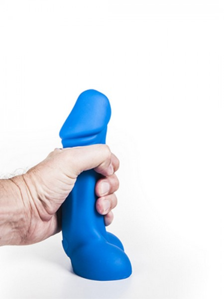 Silikon Dildo Axel 18,5x4,2-5,5cm blau