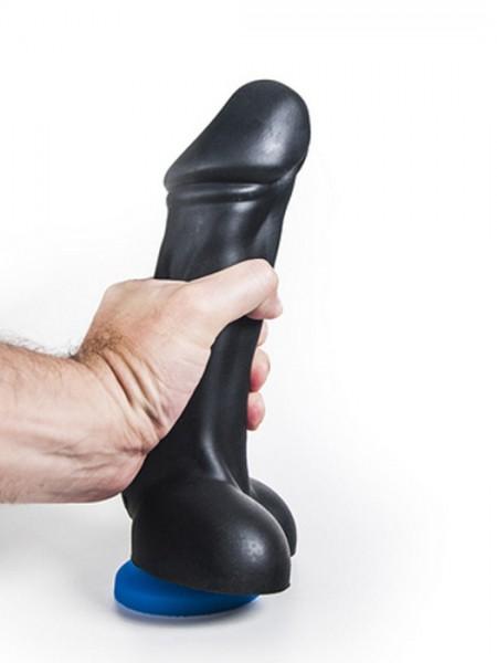 Silikon Dildo Marint 26x5,6-6,9cm schwarz