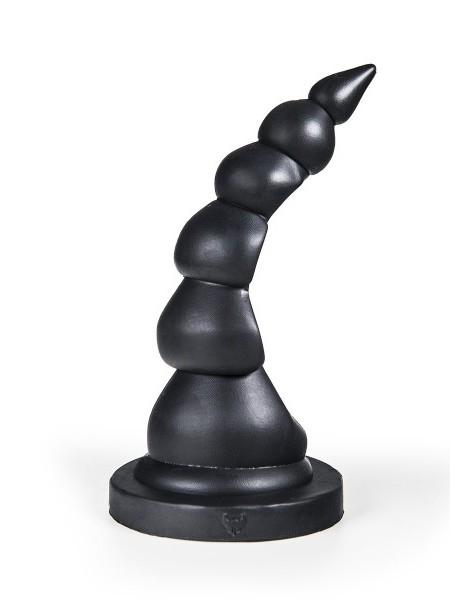 Silikon Anal Plug Boras 26x2,1-6,6cm schwarz