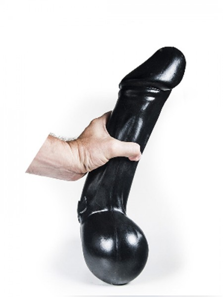 Riesen Silikon Dildo Finland Boll 40x7,9cm schwarz