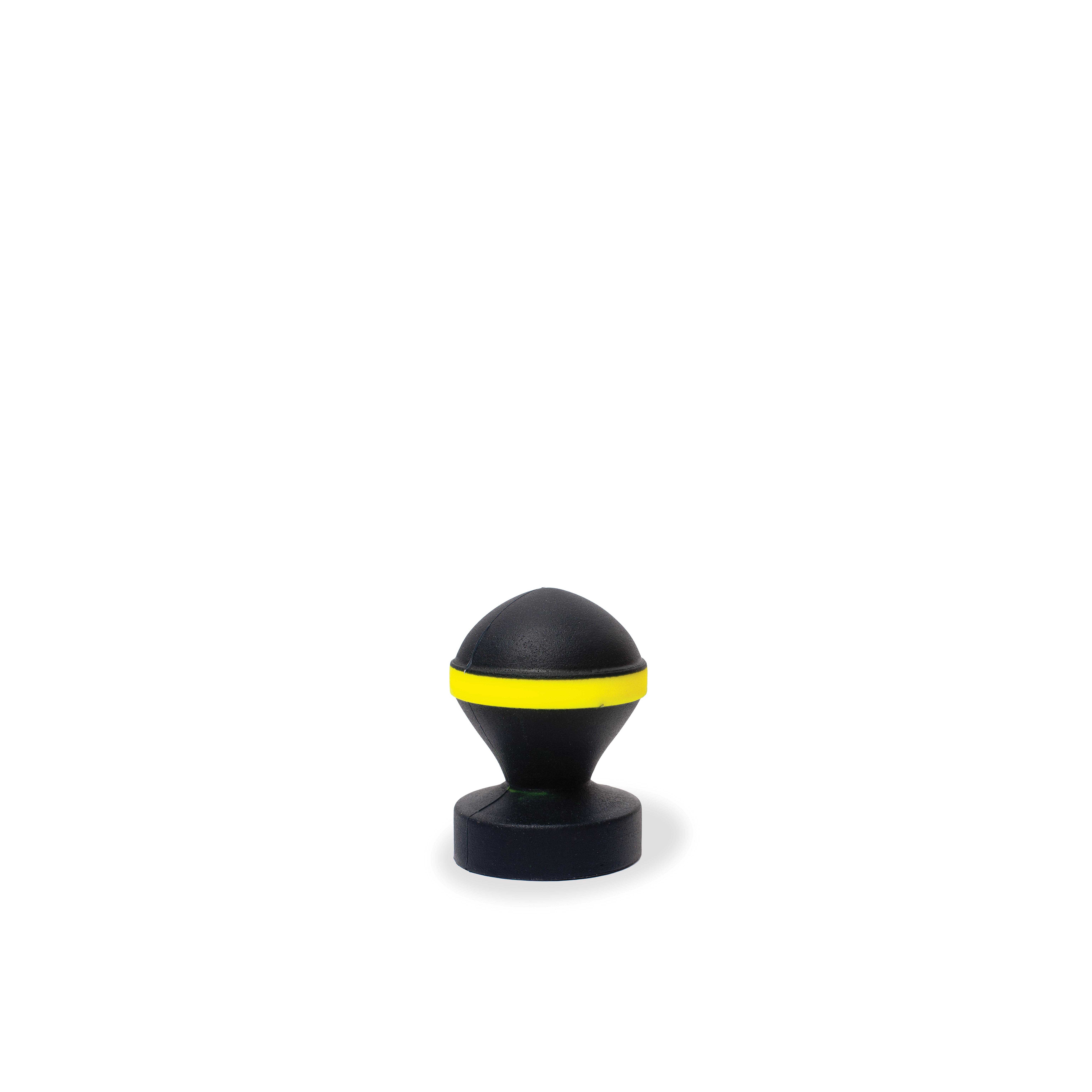 Silikon Anal Plug Fluo Valve 10,5 x 7 cm schwarz/gelb