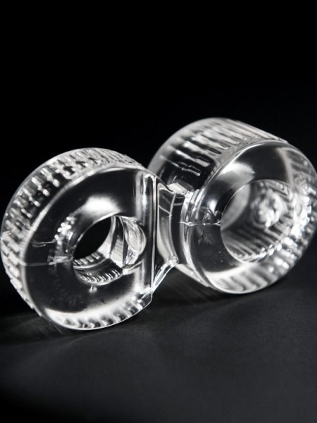 "ZIZI Doppel Cock Ring ""Trainer"" clear/Kristall"