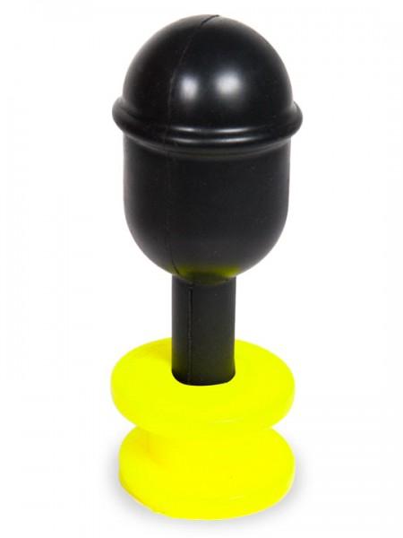 Hoolalass Neck Lever Anal Plug 11,5x7,0 cm schwarz/Neon Gelb