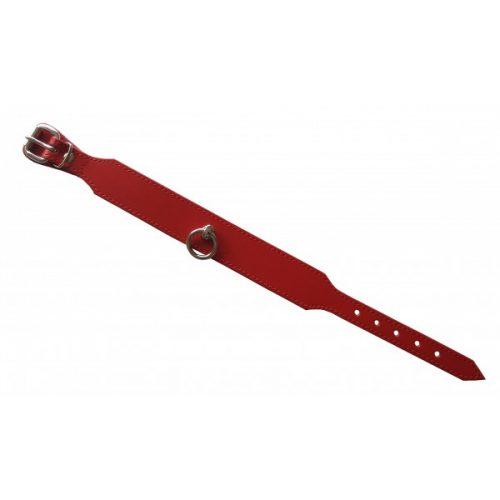 """Leder Halsband """"Passion"""" mit Ring der O. 100% Nappaleder L/XL (Breit: 3,5cm Lang: 49,5cm) rot"""