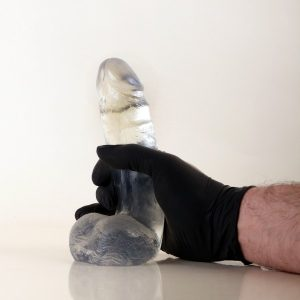 "X-Man ""Jess"" Dildo with Balls Crystal Clear 19,5x4,8cm"