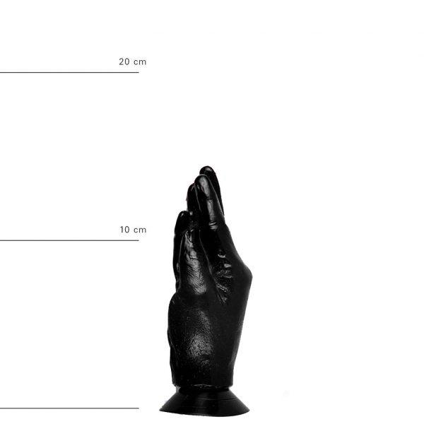 X-Man Fisting Dildo 20x4,5cm mit Saugfuss Schwarz