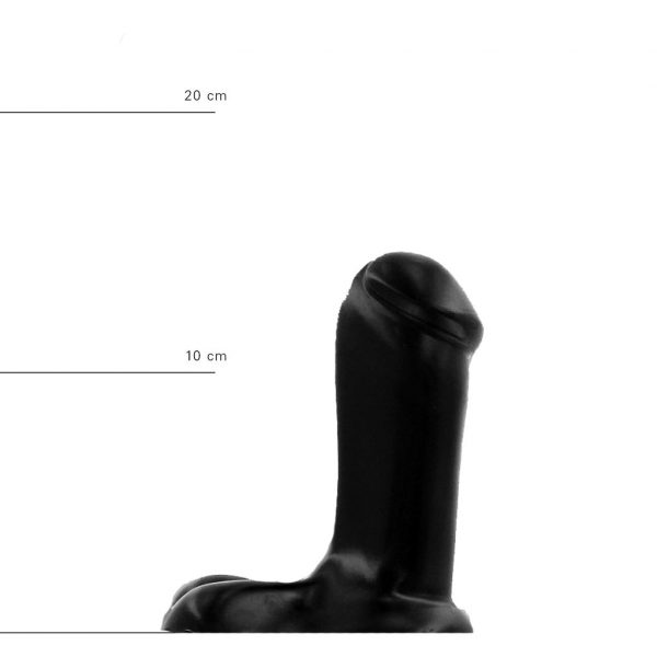 X-Man Dildo 14x5cm Klassische Form Schwarz