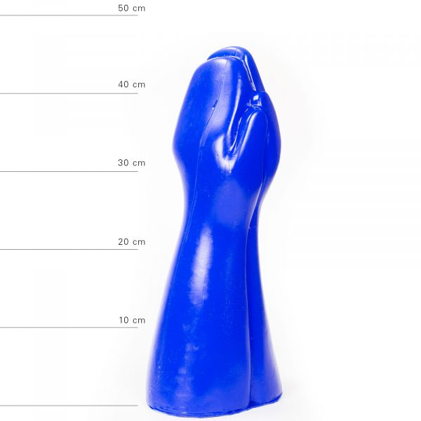 X-Man Extra Grosser Doppel Fisting Dildo 31x12,5cm Blau