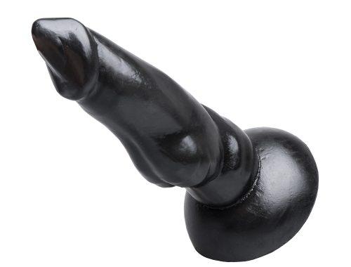 """Animal Dildo """"Mastiff"""" 25x4,5-7,0cm schwarz Realistische Nachbildung"""