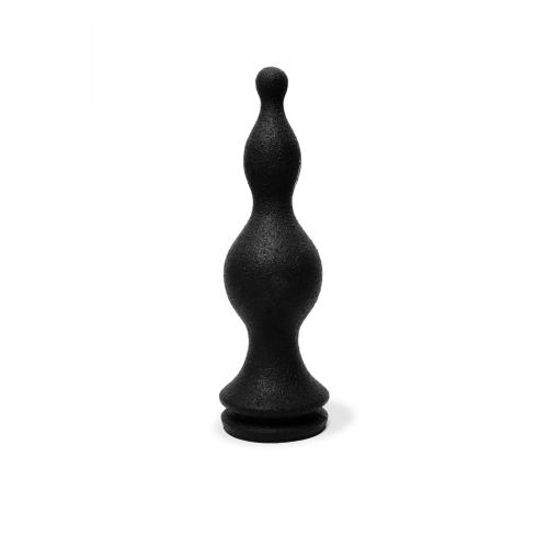 3 Stufen Anal Dildo Bowler 28 x 6 cm schwarz 100% Silikon