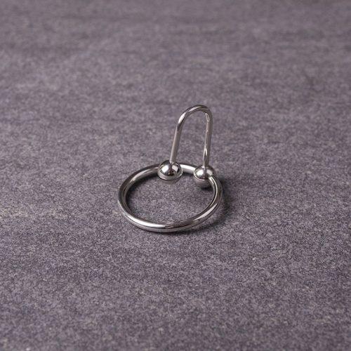 Sperm Stopper mit Eichelring 100% Edelstahl