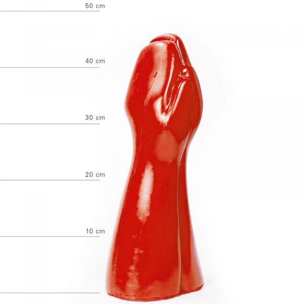 X-Man Doppelter Fisting Dildo 32x16,5cm Rot
