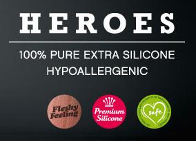 Heroes Silikon Dildo 19,5x5,5cm Hautfarben mit Saugfuss